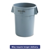 Rubbermaid Commercial Round Brute Container, Plastic, 44 gal, Gray