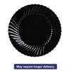 WNA Classicware Plates, Plastic, 10.25 in, Black, 144/case