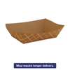 SCT Paper Food Baskets, Brown/White Check, 2 lb Capacity, 1000/Carton