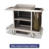 Housekeeping Cart, 22w x 60d x 50h, Platinum