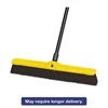 "Heavy Duty Floor Sweep, 24"" x 3"", Maroon, Polypropylene, 12/Carton"