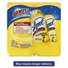 Disinfecting Wipes, Lemon/Lime Blossom, 7 x 8, 80/Canister, 2/Pack