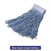 Synthetic Wet Mop Heads, Blue, 16 oz, 5-In Blue Headband, 6/Carton