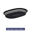 Food Basket, Black, Plastic, Large, 6 7/8 x 1 3/8