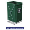 Enviro Hamper, Hamper Bag and Stand, 30 gal, 15w x 16d x 30h, Green