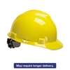 MSA V-Gard Hard Hats, Ratchet Suspension, Size 6 1/2 - 8, Yellow