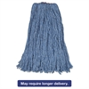 "Rubbermaid Commercial Cotton/Synthetic Cut-End Blend Mop Head, 32oz, 1"" Band, Blue, 12/Carton"