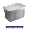 Rubbermaid Roughneck Storage Box, 31 gal, Steel Gray, 9/Carton