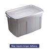 Roughneck Storage Box, 31 gal, Steel Gray, 9/Carton