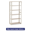 Regal Shelving Add-On Unit, Six-Shelf, 36w x 15d x 76h, Sand