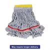 Swinger Loop Wet Mop Heads, Cotton/Synthetic, Blue, Small, 6/Carton
