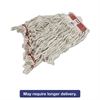 Rubbermaid Commercial Swinger Loop Wet Mop Heads, Cotton/Synthetic, White, Large, 6/Carton
