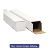 Square Mailing Tubes, 37l x 3w x 3h, White, 25/Pack