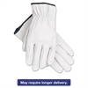 Memphis Grain Goatskin Driver Gloves, White, X-Large, 12 Pairs