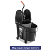 Executive WaveBrake Down-Press Mop Bucket, Black, 35 Quart