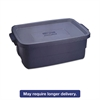 Rubbermaid Roughneck Storage Box, 10 gal, Dark Indigo Metallic, 8/Carton