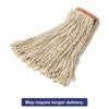 Premium Eight-Ply Cut-End Wet Mop Head, Cotton, 16oz, White, 12/Carton