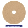 "Ultra High-Speed Floor Burnishing Pads 3400, 19"" Diameter, Tan, 5/Carton"