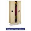 Tennsco Single Tier Locker with Legs, Three Units, 36w x 18d x 78h, Sand