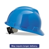 MSA V-Gard Hard Hats, Ratchet Suspension, Size 6 1/2 - 8, Blue