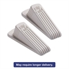 Big Foot Doorstop, No Slip Rubber Wedge, 2 1/4w x 4 3/4d x 1 1/4h, Beige, 2/Pack