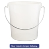Round Storage Containers, w/Bail, 22qt, 13 1/8dia x 14h, Clear