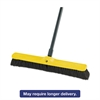 "Rubbermaid Commercial Fine Floor Sweeper, Tampico/Horsehair, 24""Brush, 3""Bristles, Black, 12/Carton"
