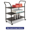 Safco Wire Utility Cart, Three-Shelf, 43-3/4w x 19-1/4d x 40-1/2h, Black