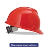 MSA V-Gard Hard Hats, Ratchet Suspension, Size 6 1/2 - 8, Red