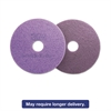 "Diamond Floor Pads, 20"" Diameter, Purple, 5/Carton"
