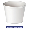 Double Wrapped Paper Bucket, Unwaxed, White, 53 oz, 50/Pack