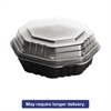 OctaView HF Containers, Black/Clear, 31oz, 9.55w x 9.13d x 3.01h, 100/Carton
