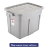 Roughneck Storage Box, 16 x 24 x 16 1/2, 18 Gallon, Steel Gray