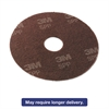 "Surface Prep Floor Pads, 13"" Diameter, Brown, 10/Carton"