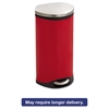 Safco Step-On Medical Receptacle, 7.5gal, Red