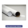 "General Supply Round Mailing Tubes, 12l x 2"" dia., White, 25/Pack"