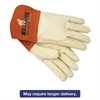 Memphis Mustang MIG/TIG Leather Welding Gloves, White/Russet, Large, 12 Pairs