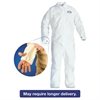KleenGuard* A40 Breathable Back Coverall with Thumb Hole, White/Blue, 2X-Large, 25/Carton