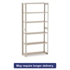 Regal Shelving Add-On Unit, Six-Shelf, 36w x 12d x 76h, Sand