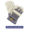 Memphis Mustang Leather Palm Gloves, Blue/Cream, Large, 12 Pairs