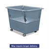 Royal Basket Trucks Poly Spring Lift, 15 x 25 1/2, 6 Bushel, Vinyl/Steel, Gray