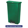 Slim Jim Resin Step-On Container, Front Step Style, 18 gal, Green