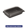 Dinner Box, 1-Comp, Black/Clear, 64oz, 11 1/2w x 8.05d x 2.95h, 100/Carton