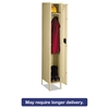 Tennsco Single Tier Locker with Legs, 12w x 18d x 78h, Sand