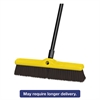 "Heavy Duty Floor Sweep, 18"" x 3"", Maroon, Polypropylene, 12/Carton"