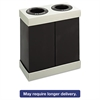 At-Your-Disposal Recycling Center, Polyethylene, Two 56gal Bins, Black