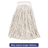 Economy Cotton Mop Heads, Cut-End, White, 20 oz, 5-In White Headband, 12/Carton