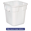 Rubbermaid Commercial Brute Square Containers, 28 gal, White