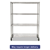 ProSave Shelf Ingredient Bin Cart, Four-Shelf, 50w x 18d x 67 1/4h, Chrome