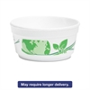 Vio Biodegradable Food Containers, 12 oz Bowl, Foam, White/Green, 500/Carton